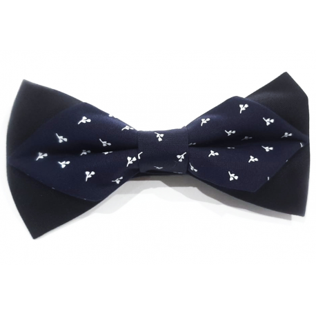 Men's bow tie in flower-tipped fabric