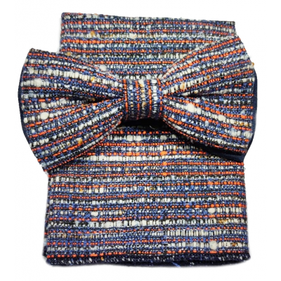 Bow tie with pochette in Sati wool